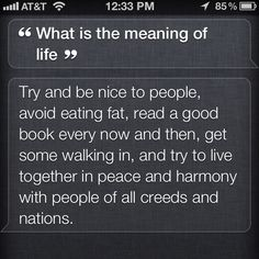 Who knew Siri had all the answers... :)