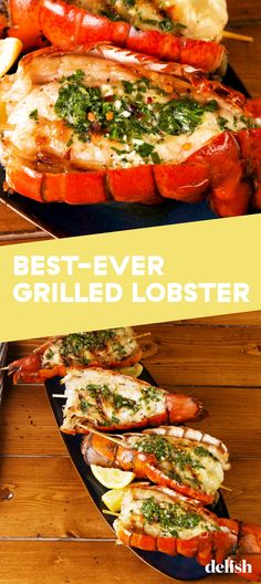 Herb Butter Grilled Lobster Tail Tastes Like It Came From A Fancy Seafood Restaur. - Herb Butter Grilled Lobster Tail Tastes Like It Came From A Fancy Seafood Restaurant You are in the - Grilling Recipes, Fish Recipes, Seafood Recipes, Cooking Recipes, Healthy Recipes, Fish Dishes, Seafood Dishes, Seafood Platter, Main Dishes