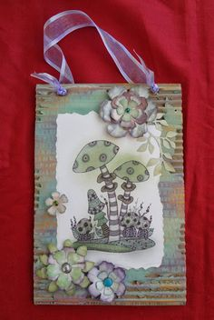 Dianes Rambles: Zentangled mushrooms Lindsay Mason Zentangle