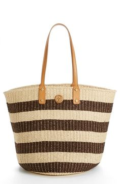 Tory Burch 'Tyler' Straw Tote Coconut/ Ivory from Nordstrom on Catalog Spree, my personal digital mall.