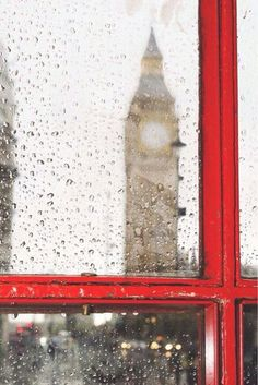 Big ben and red phone cabine. Rainy Photos Big ben and red phone cabine in London. Rainy day by Deyan Georgiev Big Ben, Photos Originales, No Rain, Photos Voyages, London Calling, British Isles, Oh The Places You'll Go, Rainy Days, London England