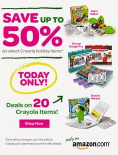 Thursday Deals of the Day and Freebies - Save up to 50% Off Crayola Holiday Items! Free Squirrel Unit Study, Brown Bear Play-doh Mats and Introduction to Fractions for K-2 #homeschool