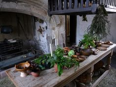 Plas Mawr, kitchen. Situated within the medieval walled town of Conwy......