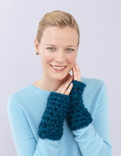 """Wristers -- haha like """"oh I have such cold wrists, what can I possibly do??? oh!  knit just something for my wrists!  Saved!"""""""