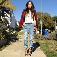 ...because we're kinda sorta obsessed with @Aimee Song's lace-up sandals