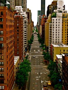 Looking north on 1st Avenue.  NEW YORK CITY.