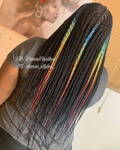 Image may contain: one or more people and closeup - braids - Black Girls Hairstyles, Braided Hairstyles, Hairdos, Natural Braids, Natural Hair Styles, Rainbow Braids, Triangle Box Braids, Shaved Hair Designs, Kid Braid Styles