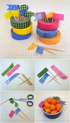 DIY Food Picks | Creative Ways to Personalize with Washi Tape