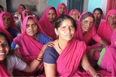 The Gulabi Gang. Indian women activists working for justice for abused and oppressed women