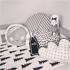 Adorable monochrome cushions available at