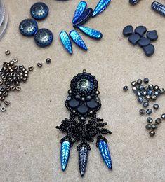 by Kaja Bijoux Feathers, Beading, Brooch, Birds, Candy, Jewelry, Brooch Pin, Sweet, Beads