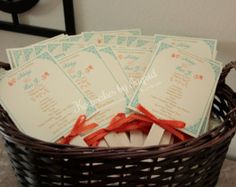Wedding Program Fans Kraft and Lace Ceremony by paperandlaceshop