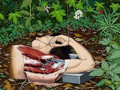 chinese contemporary artist Chen Fei, the renaissance in the grass on ArtStack #chen-fei #art