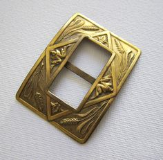 antique art nouveau belt buckle