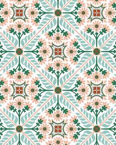 Surface Pattern, Pattern Art, Pattern Design, Print Patterns, Textile Patterns, Textiles, Vintage Tile, Vintage Design, Creative Studio