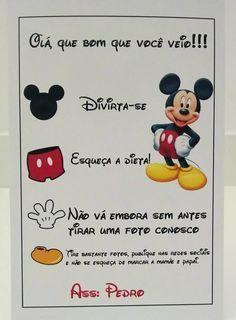 Tema Minnie e mickey Mickey Mouse Bday, Mickey Y Minnie, Mickey Birthday, Mickey Party, Mickey Mouse Clubhouse, Disney Mickey, Mickey Circo, Happy Birthday B, Birthday Treats