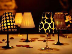 Luminárias DIY, feitas com taças