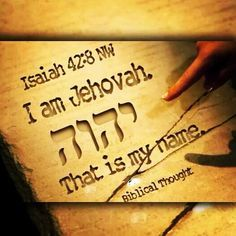 i am jehovah that is my name -