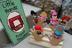 SER.EN.DIP.I.TY -- sign and finger puppet display for 'la petite ville'.