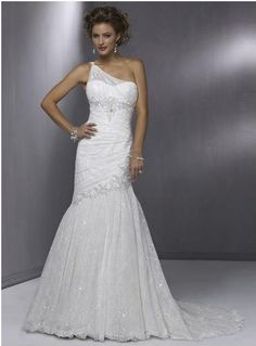 one shoulder wedding dresses | One shoulder wedding dress | My Wedding Dream