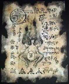 Pagano de la brujería la madre de la oscuridad cthulhu larp Necronomicon página horror oculto