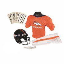 Franklin Sports NFL Denver Broncos Deluxe Youth Uniform Set, Small