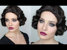 ▶ Vintage Inspired Great Gatsby Makeup! - YouTube love the eyes.... id do different lips though