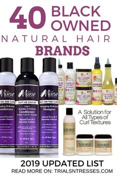 tips Black Owned Natural Hair Brands Updated List) Marcas de cabelo natural de propriedade preta (lista atualizada de - Trials N Tresses Best Natural Hair Products, Natural Haircare, Natural Hair Tips, Natural Hair Growth, Natural Hair Styles, Black Hair Care Products, Protective Styles For Natural Hair Short, Natural Curls, Kids Natural Hair