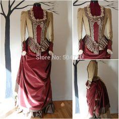 Freeshipping ! R 838 disfraces vestido de boda de la vendimia bola de la belleza / Gothic Lolita vestido vestidos victorianos de Disfraces fiables(China (Mainland))