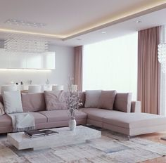 Elegant Home Interior Design with Luxury Living Room : Fascinating Classic Meets Modern Living Room Decor With White Coffee Table And Grey S. Beige Living Rooms, Elegant Living Room, Living Room White, White Rooms, Living Room Paint, New Living Room, Living Room Furniture, Modern Living, Luxury Living