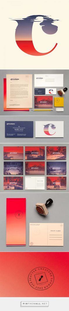 Brand New: New Logo and Identity by and for Creature – frisuren locken Identity Design, Visual Identity, Brand Identity, Logo Design, Corporate Design, Corporate Identity, Thank You Postcards, Fitness Gifts, Illustrations