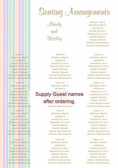 Stripes of Love Seating Chart in Gold Fusion - DreamDay Invitations