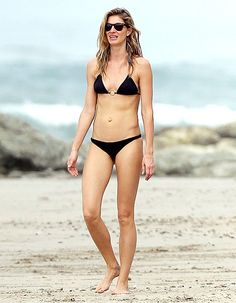 Gisele Bundchen and her gorgeous family—including husband Tom Brady—hit the beaches of Costa Rica on Friday, March 20, where the Brazilian supermodel flaunted her flawless bikini body.