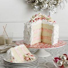 Layered Pepermint Cheesecake Cake
