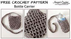 Bottle Carrier Free Crochet Pattern - Right Handed