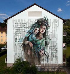 by Herakut in Heidelberg, Germany, 2016 (LP)