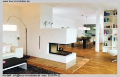 Kaminofen als Raumteiler Furniture, Room, House, Interior, Home, Cozy House, Interior Design, Home And Living, Great Rooms