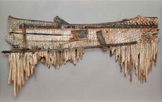 James Florschutz - The World In-Between 2005 Cedar, surveyor stakes, rope, tar, graphite and oil bar