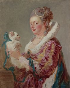 Portrait of a Woman with a Dog, ca. 1769 Jean Honoré Fragonard (French, 1732–1806) Oil on canvas