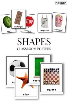 Shapes Classroom Posters - Use these colorful photograph posters to display 2D Shapes in your classroom or resource room!