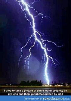 Accidental shot of lightning #luckyshot #weather
