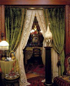 Elegant velvet gypsy boho curtains