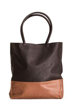 stylish and roomy leather bag