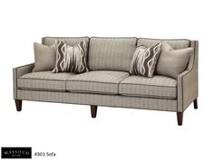 Elegant Massoudu0027s 4301 Is A Great Transitional Sofa. It Features Plush Seating And  Gorgeous Leather Welt