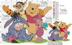 winnie the pooh w/color guide...very cute