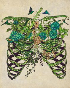This would go so perfectly with my tree on the side of my body. I could have the branches going and forming my ribs and have moss and flowers just like this.