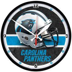 Carolina Panthers NFL Round Wall Clock