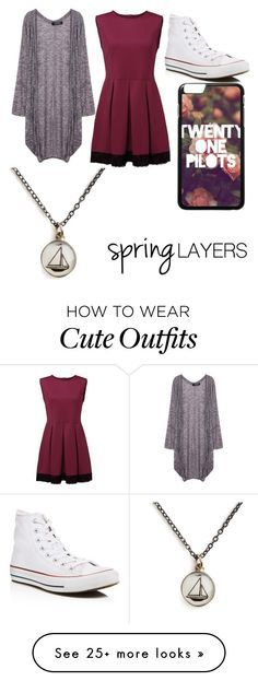 """Spring Layers Outfit"" by ekeefegrace on Polyvore featuring Converse, Chart Metal Works, cutecardigan and springlayers"