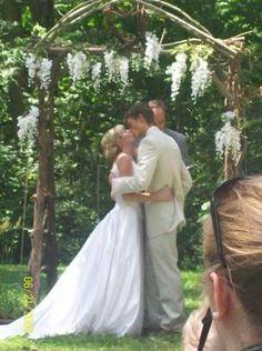 Rustic Wedding Arbor -