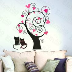 Acacia Tree - Large Wall Decals Stickers Appliques Home Decor by Hemu Wall Sticker. $7.99. With little cost or effort you can decorate your home without the trouble or expense of painting.. Simply apply this decal to your wall to immediately bring in a fresh new atmosphere and mood.. Size: (W)20.1 inch x (H)30.7 inch; Colors: Mixed (as shown in the image).. Show your creativity by turning your wall into a beautiful work of art with wall art decals.. This decal would be perfect f...